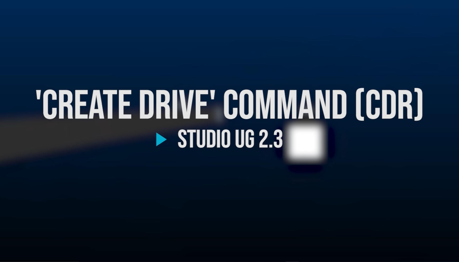 Screenshot of the title screen for the 'Create Drive' Command video
