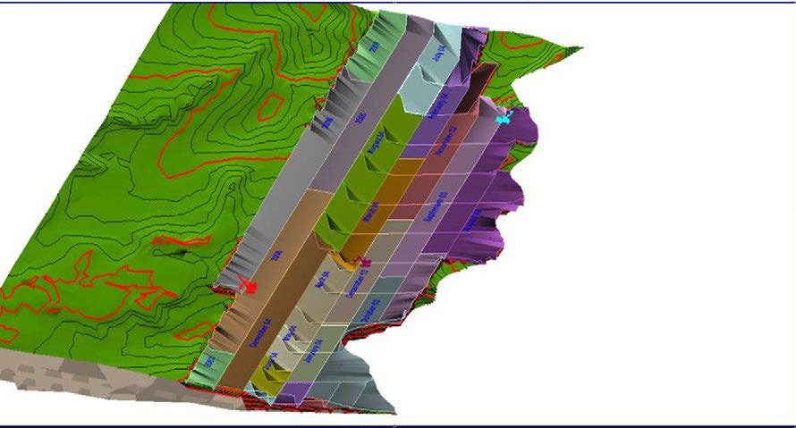 Mining Blocks scheduling in MineScape - Geological Modelling & Mine Planning Software