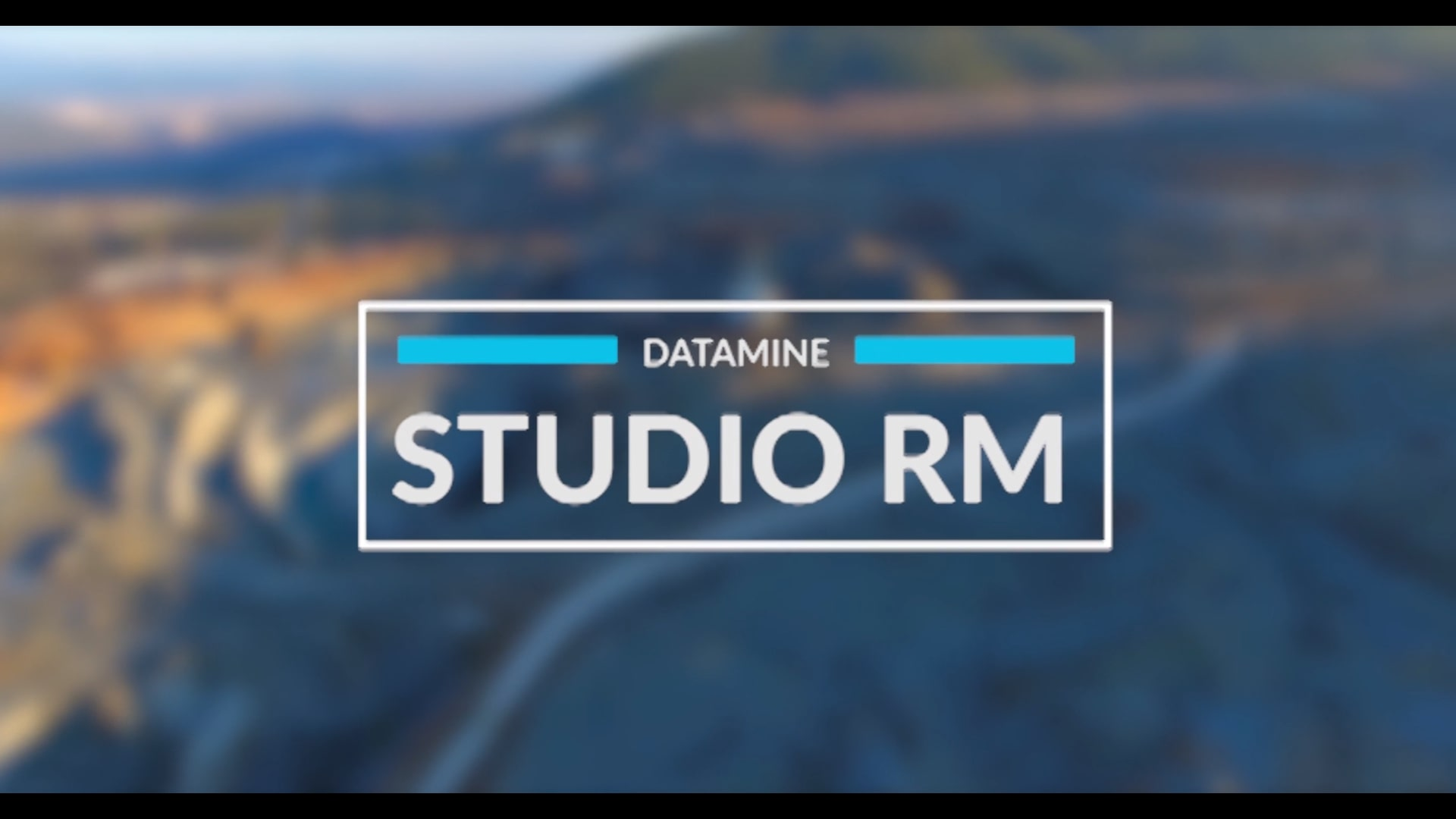 screenshot of the title page of the Studio RM overview video - a geological resource modelling software solution