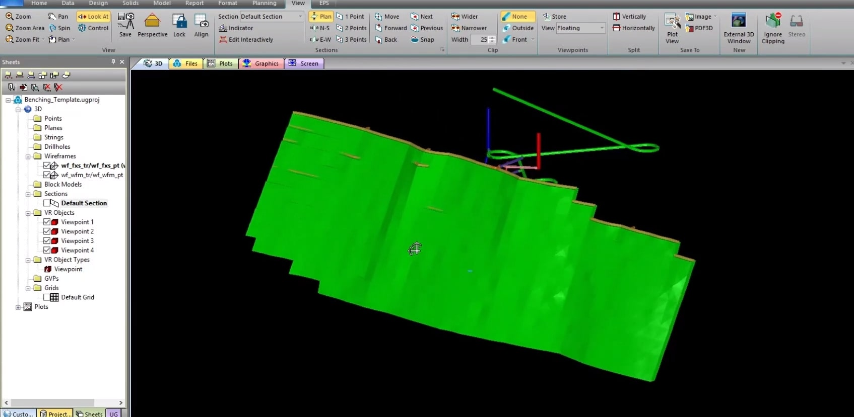 underground mine design 3D visualization in Studio UG - underground mine design and scheduling software