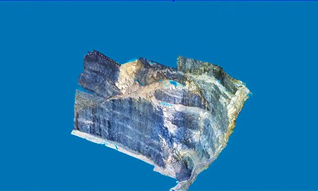 3D drape of photograph over model triangulation created in MineScape - Geological Modelling & Mine Planning Software