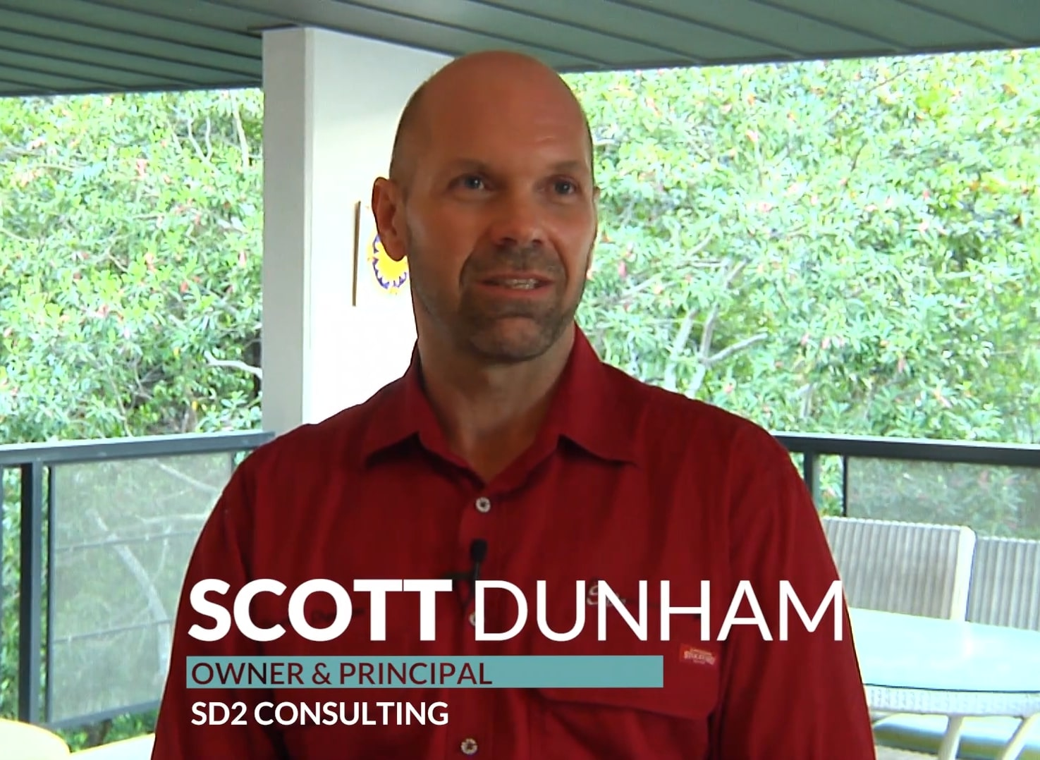 a head and shoulder still shot of Scott Dunham, a Datamine Studio User, during an interview