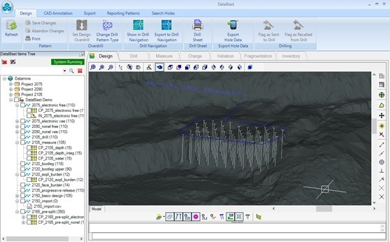 A dedicated software for open pit blast management, from design to analysis, saves considerable time and money - DataBlast.